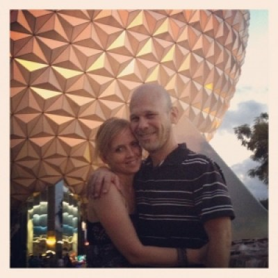 Husband and Wife at Disney World
