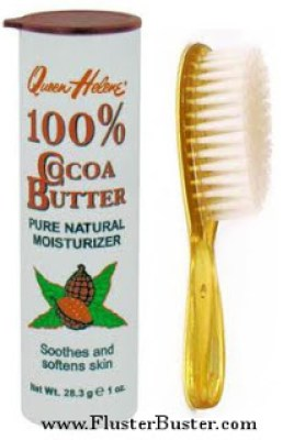cocoa butter and brush