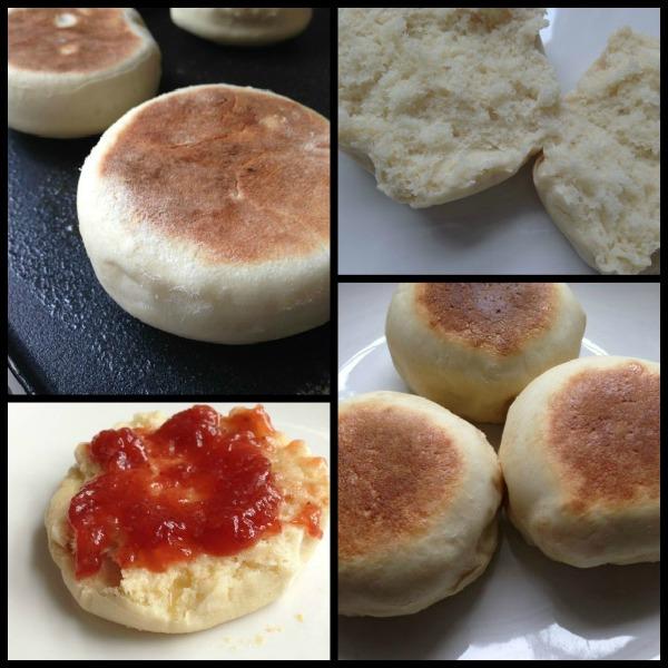 english muffins and jam