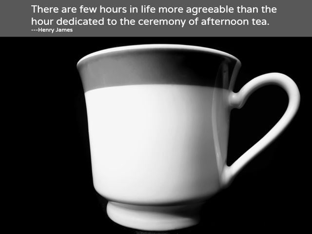 Henry James Tea quote