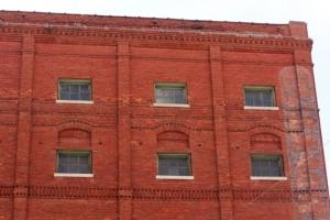 Red brick apartment