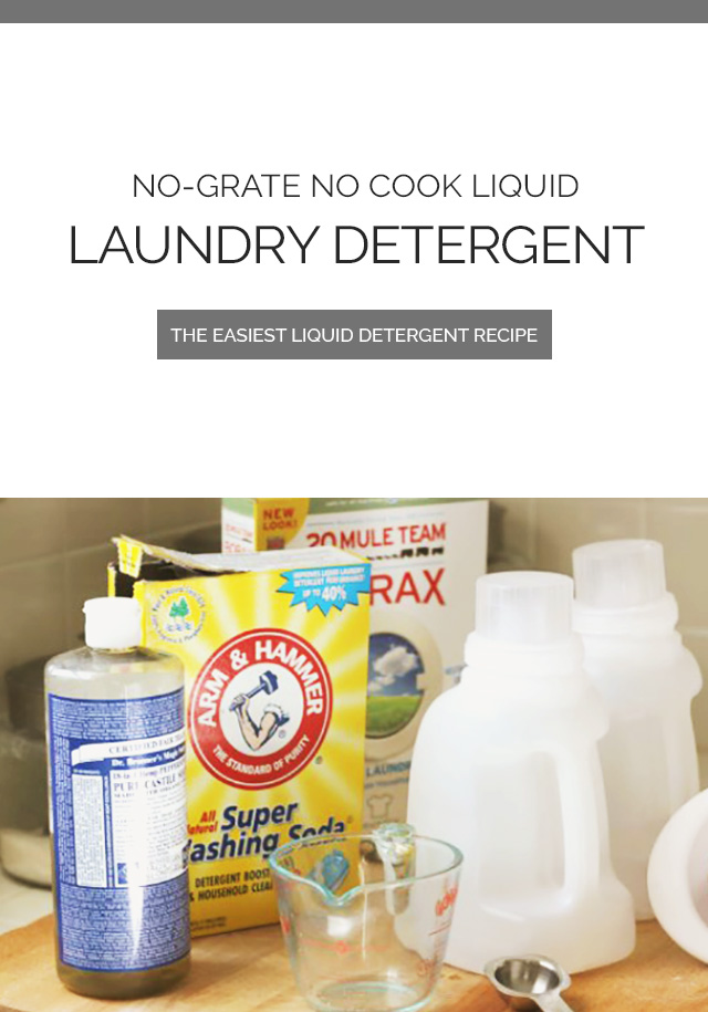 Liquid Laundry Detergent Ingredients
