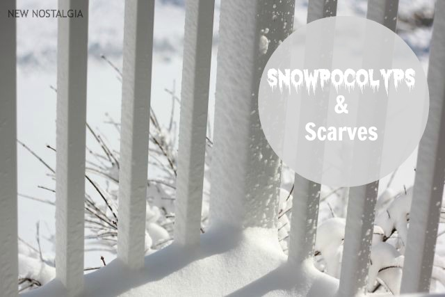 Snopocolypse and scarves
