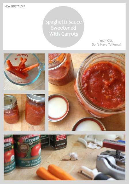 spaghetti sauce sweetened with carrots