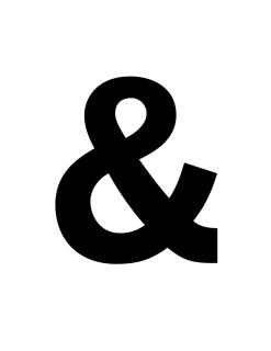 ampersand stencil