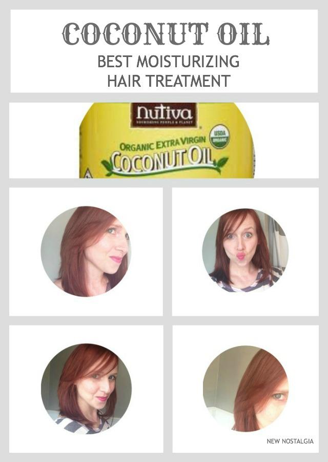 Coconut oil for moisturizing hair