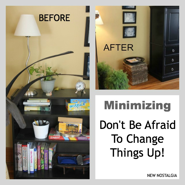 Before and After change in living room