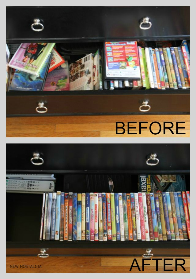 Organizing movies in a drawer