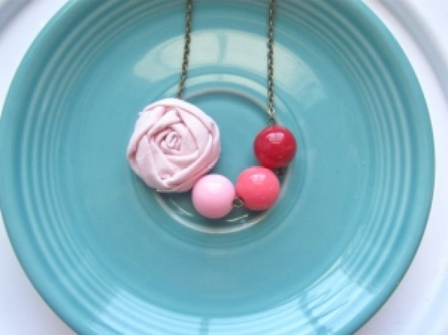 Pink Ombre Necklace by Happy Little Lovelies