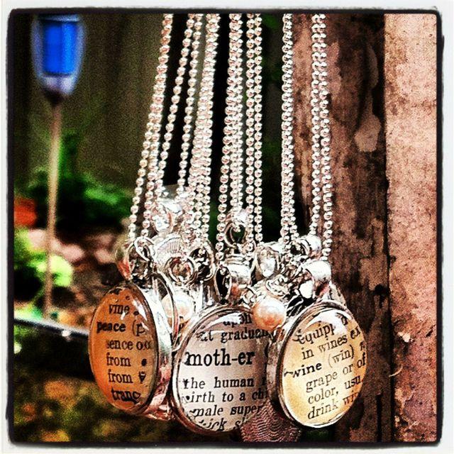 Dictionary vintage necklaces