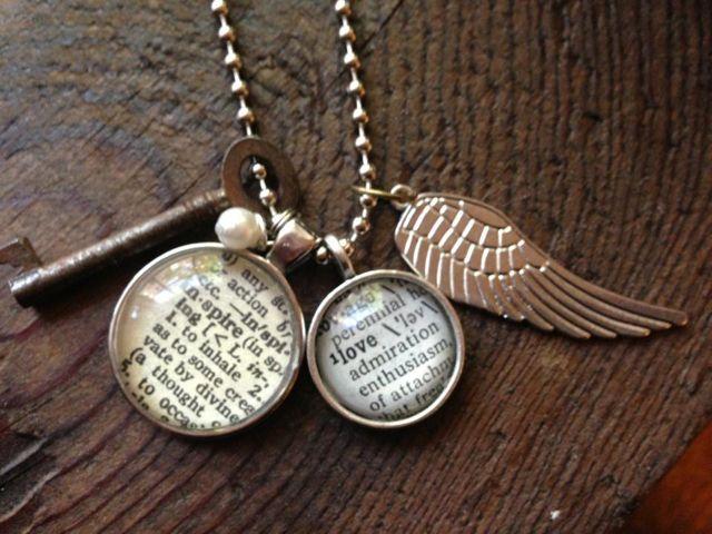 Dictionary pendant necklace by Krafty Kash