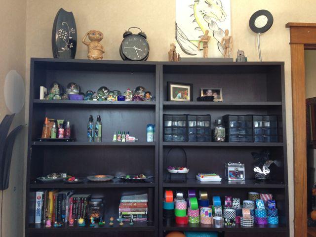 Shelves for teen girls room