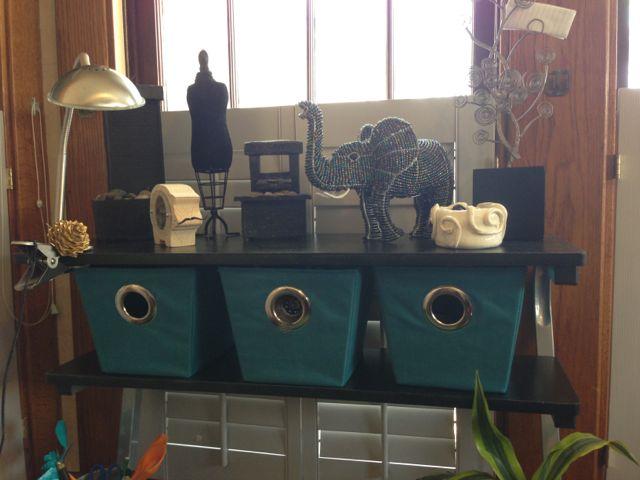 Crafting bins for teen room
