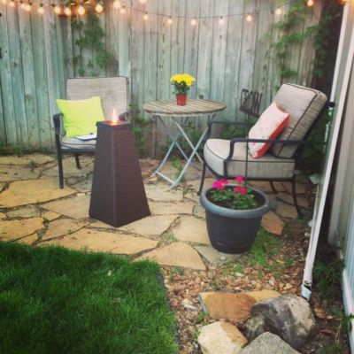 Potted plants on patio