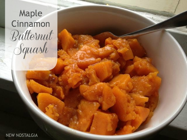 Maple cinnamon butternut squash
