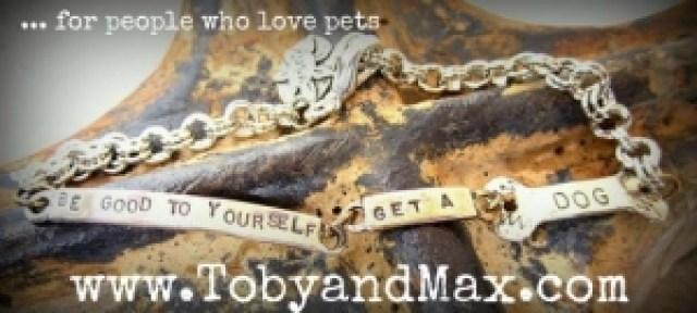 Peweter and bronze link bracelet.