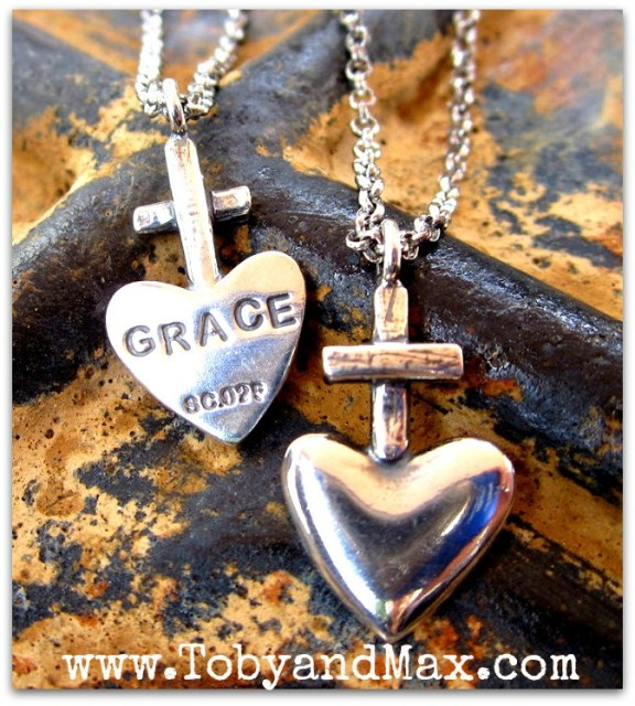 Grace and cross necklaces