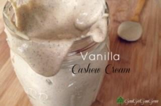 Vanilla cashew cream
