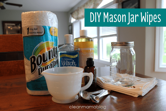 Mason Jar Wipes