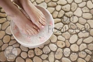 DIY foot soak