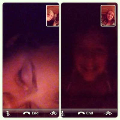Facetime with mother and daughter