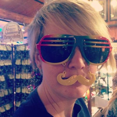 Rainbow aviator glasses with attachable mustache