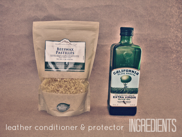 Leather conditioner and protector ingredients