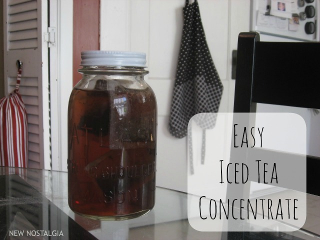 Easy iced tea concentrate in a mason jar