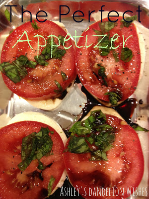 Appetizer with tomatoes and lettuce