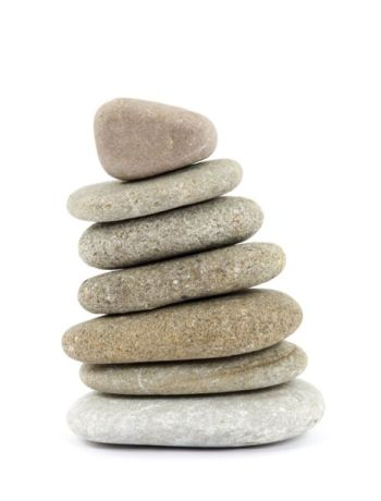 stack of rocks for yoga