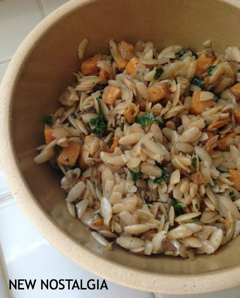 Orzo and roasted fall vegetables