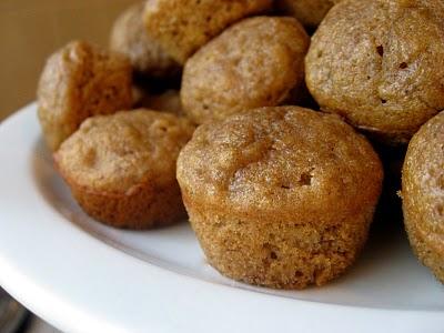 Whole wheat banana honey muffins
