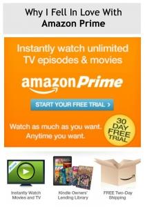 Orange advertisement for Amazon Prime
