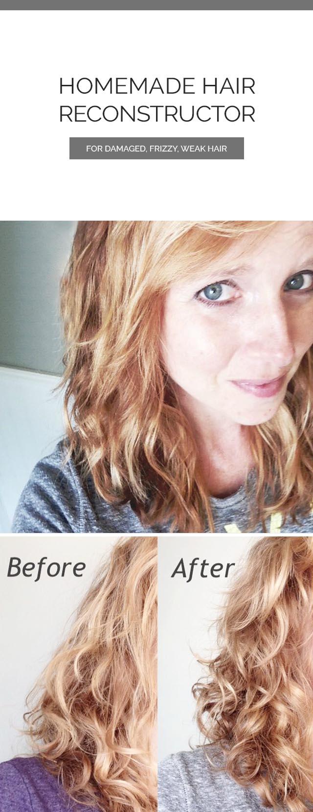 DIY Homemade Hair Reconstructor
