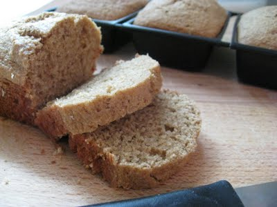 Sliced applesauce bread