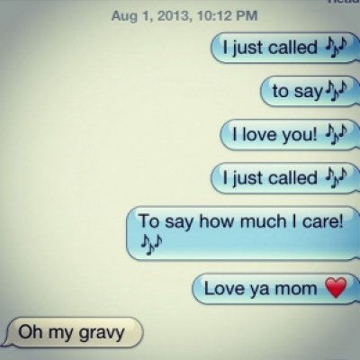a picture of silly text from daughter to mother