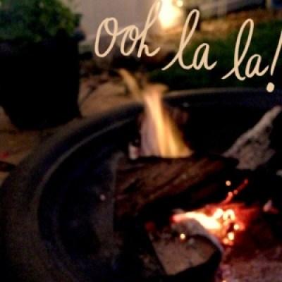 a romantic pit fire