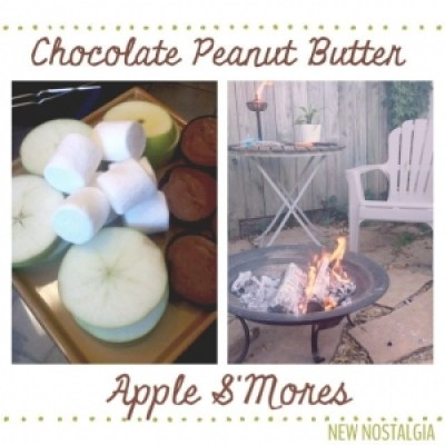 S'mores made with apples slices instead of graham crackers