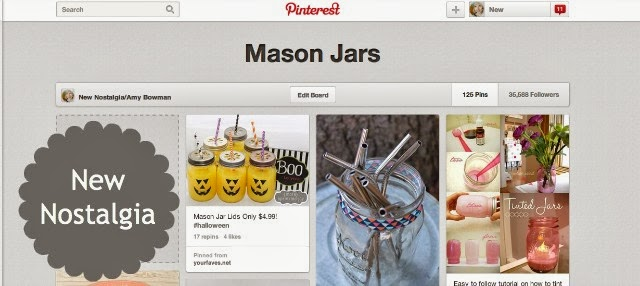 mason jar pinterest board from new nostalgia