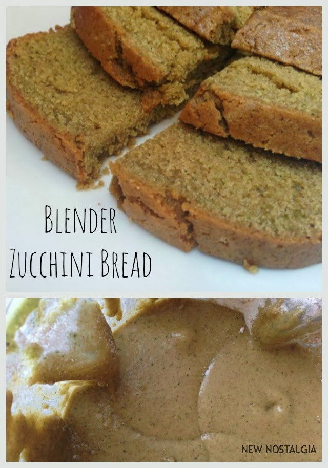 Blender Zucchini Bread