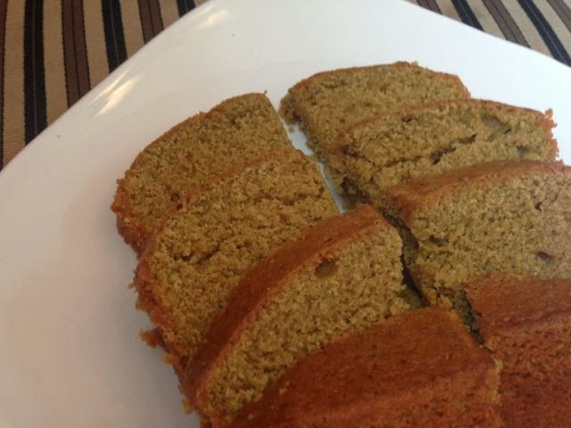 Sliced, baked zucchini bread