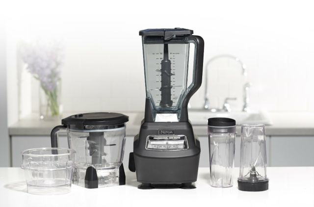 Ninja Mega Kitchen Blender and accessories.