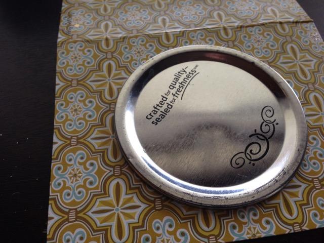 card stock mason jar lid