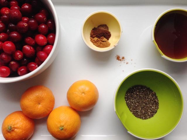 Cranberries-clemantines-chia-cinnamon-jam