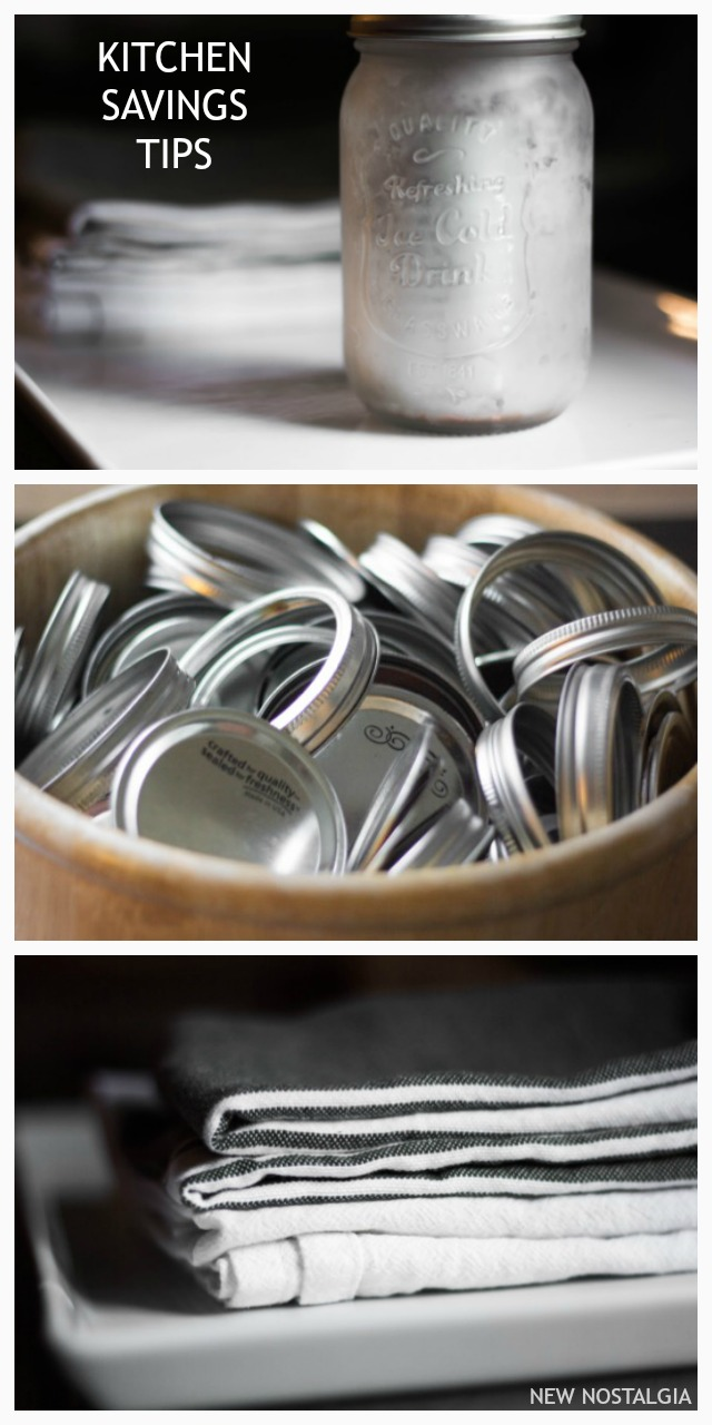 mason jar and metal lids and rings
