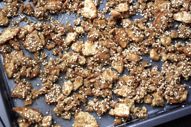 Cracker-crumble-baked