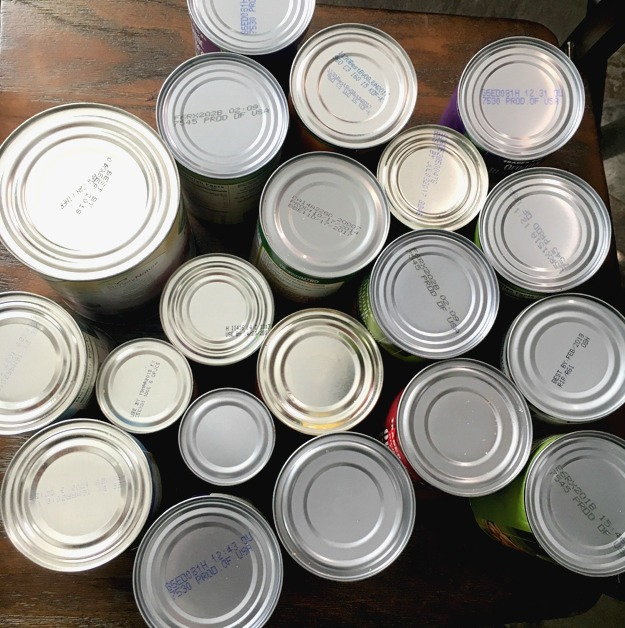 Clean pantry canned goods