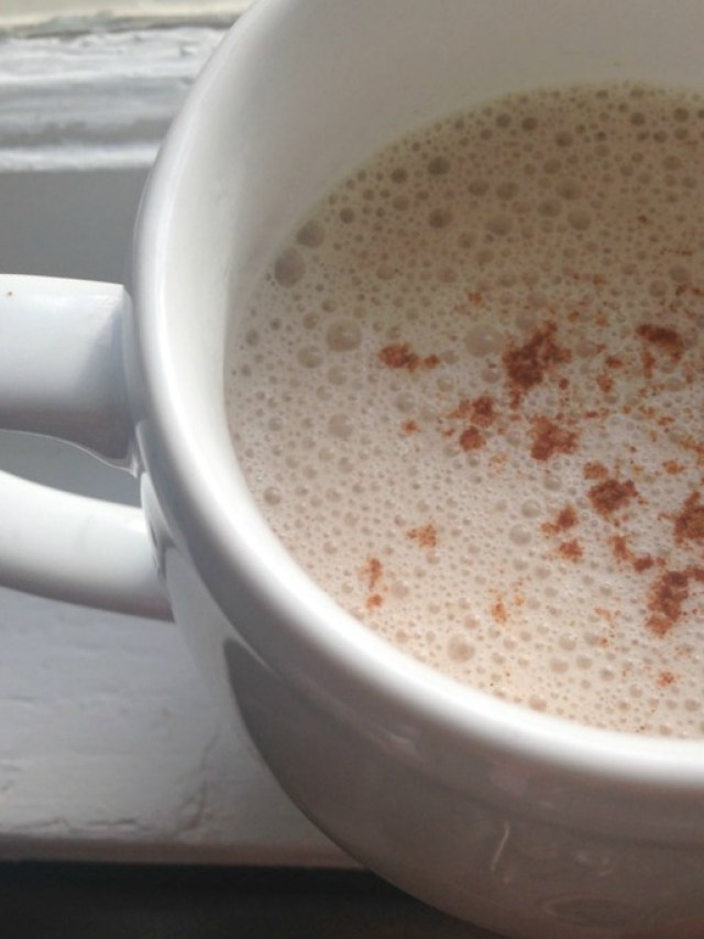 Warming spiced almond milk