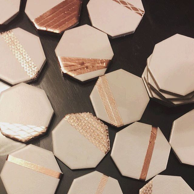 Hexagon tiles and washi tape