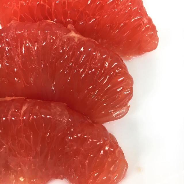 peeled grapefruit
